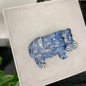 Vintage 1980s Hippo Brooche